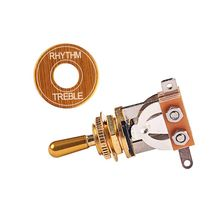 Toggle Switch 3 Ways Pickup Selector Tone Conversion and Circle Ring For LP SG Electric Guitar Golden