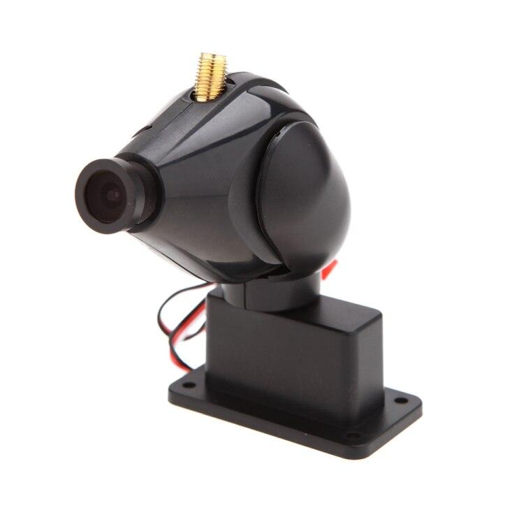 FPV 5.8G 200MW 32CH Transmitter High Definition 900 Line Video Wirless Camera 2 Axis Servo Gimbal Camera One machine FC108