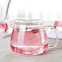 Glass Teapot Heat-Resistant Coffee-Tea-Set Office-Flower Hot-Sale 500ML New-Arrival