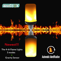 E27 LED Flame Effect Fire Light Bulbs 9W Creative Lamp Flickering Emulation Atmosphere 3 modes+Gravity Sensor Lights Corn Lamp