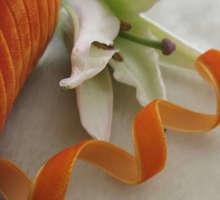 "10Y 3/8 "" Velet Ribbon Craft / boda / partido naranja R0010"
