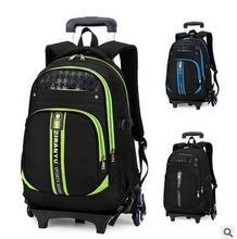 Brand Kids Rolling Bags School Backpacks Children Trolley Backpack On wheels Boy's Trolley School bag Kids luggage Mochilas Bag