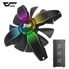 Dark flash RGB حافظة كمبيوتر مروحة كمبيوتر مكتبي صامت فائق تدفق الهواء بدون إطار مسند تبريد للاب توب مدمج به مكبر صوت 12 فولت 4pin مراوح الألعاب الشاسيه حالات