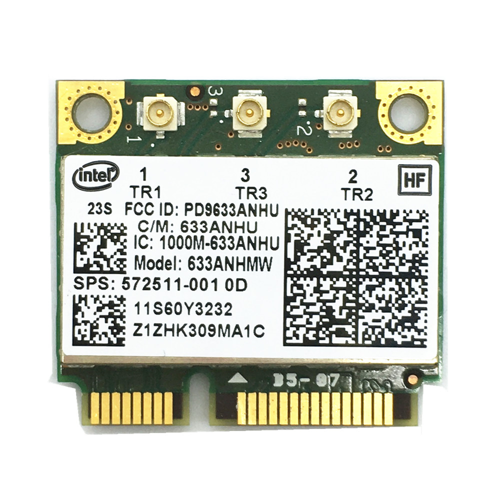 New For Ultimate-N Intel 6300 633ANHMW 6300AGN Half Mini PCI-E 2.4G/5GHZ Wireless Card For X230 X220 T410 T420 FRU 60Y3233