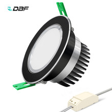 [DBF]Round Black Epistar COB Spot Lamp 5W 7W 10W 12W LED Ceiling Recessed Downlight with AC 110V/220V LED Driver for Home Decor(China)