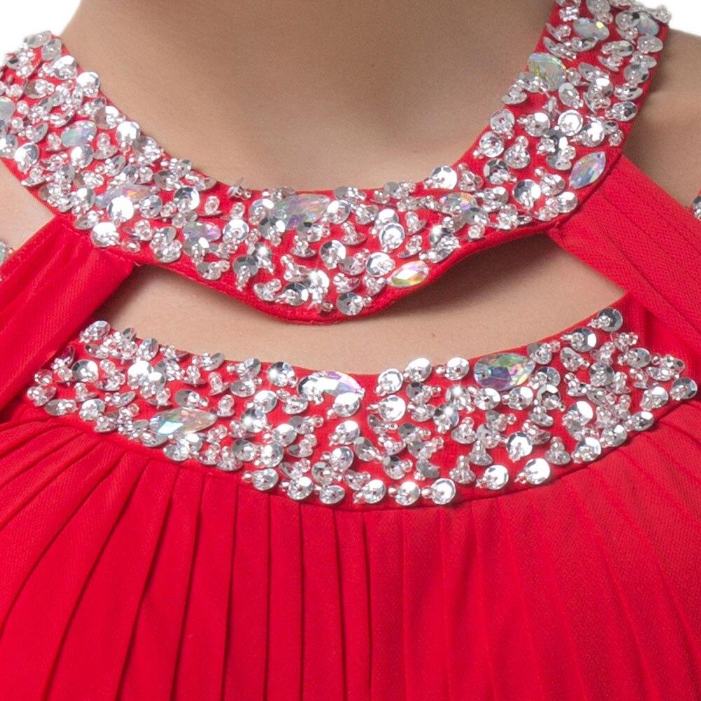 Lujoso Vestidos De Fiesta De Color Rojo Con Las Correas Inspiración ...