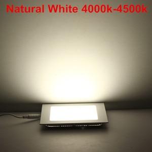 Image 4 - 20 pcs/lot Dimmable Ultra mince 3 W/4 W/6 W/9 W/12 W/15 W/25 W LED plafond encastré grille Downlight/mince panneau carré