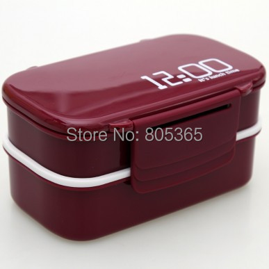 Hot 2 Layer Bento 12:00 Lunch Box Sushi box Food Container Kitchen Accessories Tableware Microwave 4 Colors - L&P Co., Ltd. store