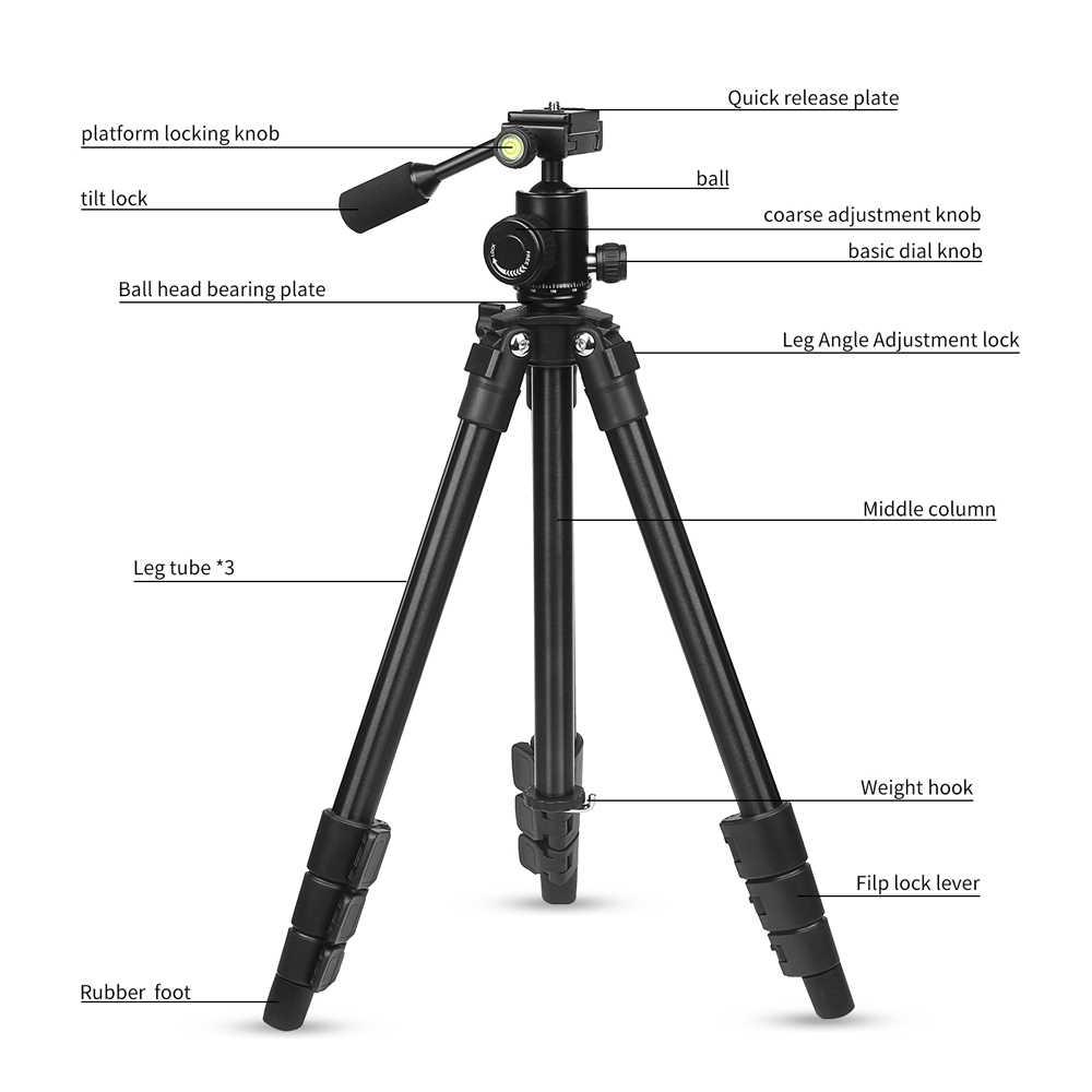 Держатель штатива для камеры с шаровой головкой для Canon 1300D sony X3000 A6000 Nikon D3400 D5300 аксессуары для DSLR камеры