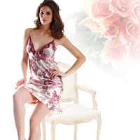 Satin Night Dress Women Nightwear Silk Sleepwear Silk Nighty Sexy Slip Nightgown