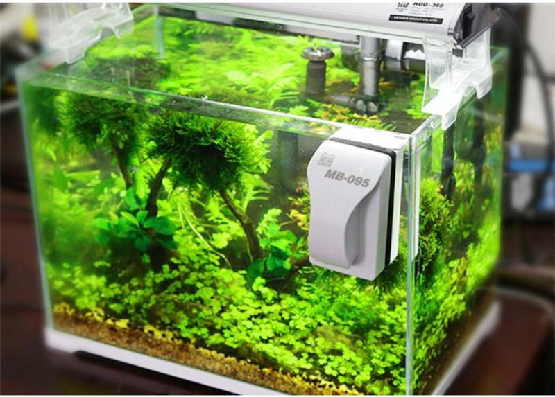 Плавающая Магнитная Щетка для аквариума, скребок для очистки водорослей