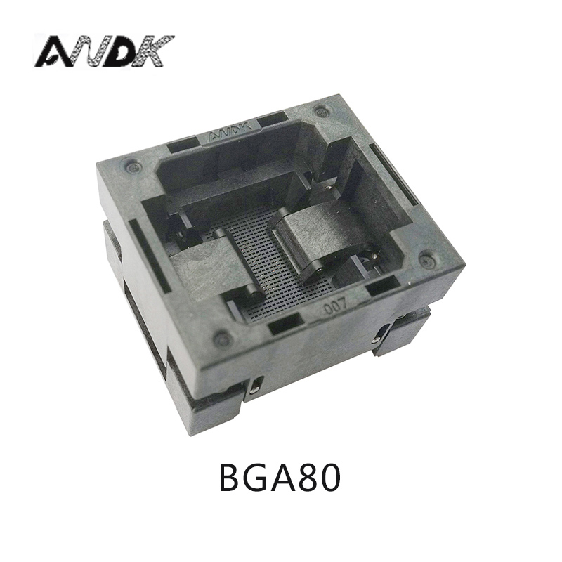 BGA80 OPEN TOP Burn in socket pitch 1.0mm IC size 7*9mm BGA80(7*9)-1.0-TP03/50N BGA80 VFBGA80 burn in programmer socket bga80 open top burn in socket pitch 0 8mm ic size 7 9mm bga80 7 9 0 8 tp01nt bga80 vfbga80 burn in programmer socket
