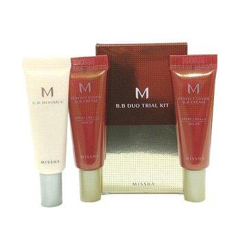 MISSHA M BB Duo Trial Kit C ( #29 #27 ) MISSHA BB Boomer Primer 10ml + MISSHA M perfect Cover BB Cream 10ml Korea Cosmetics фото