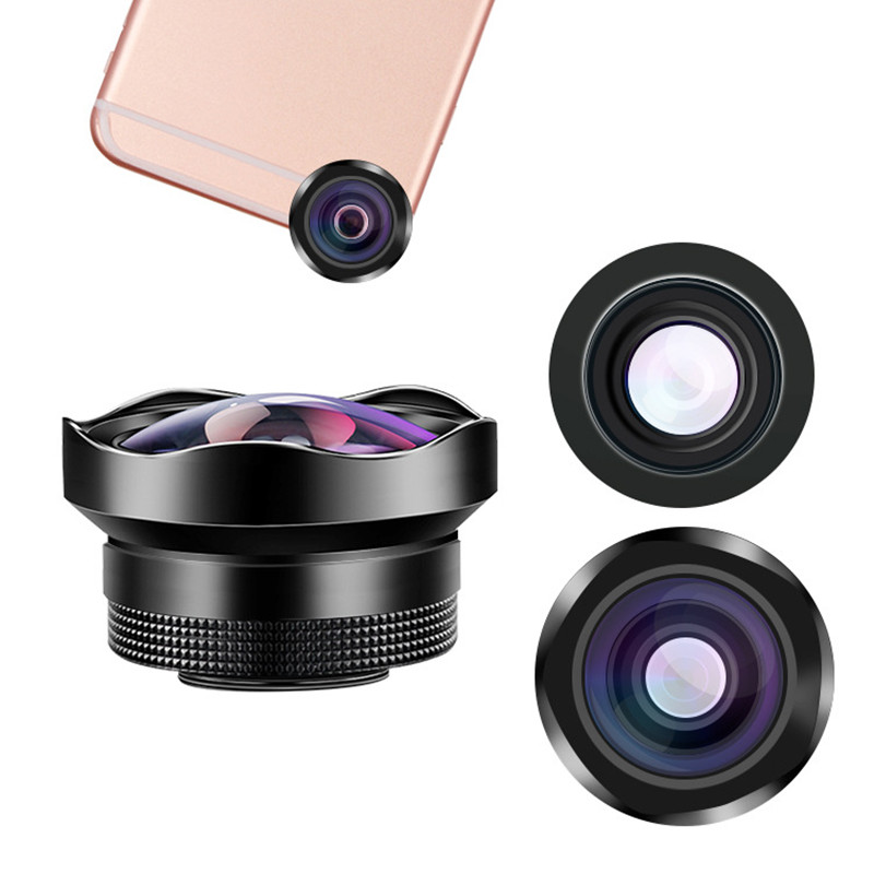 Portable 4k HD Camera Lens 15X Macro Lense Wide Angle Lens Professional Universal Clip On Cell Phone Lens for huawei Samsung Mobile Phone Lens     - title=