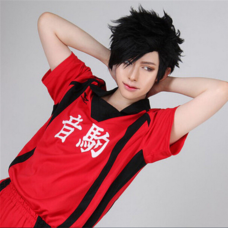 Haikyuu!! Volleyball Tetsurou Kuroo Tetsuro Short Black Synthetic Hair Styled Heat Resistant Cosplay Anime Wig