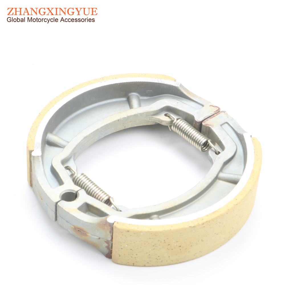 125mm Chinese Scooter Rear Drum Brake Shoes 125cc 150cc GY6 Moped 152QMI 157QMJ high quality rear brake shoes for chinese gy6 scooter honda cg 125 250 motorcycles atv moped go kart spare part