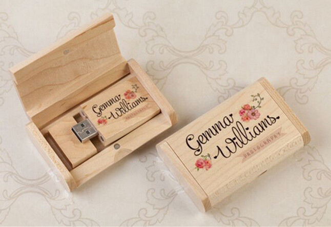 cadeau de mariage en bois usb personnalis bricolage logo usb 20 mmoire flash bton - Cl Usb Personnalise Mariage