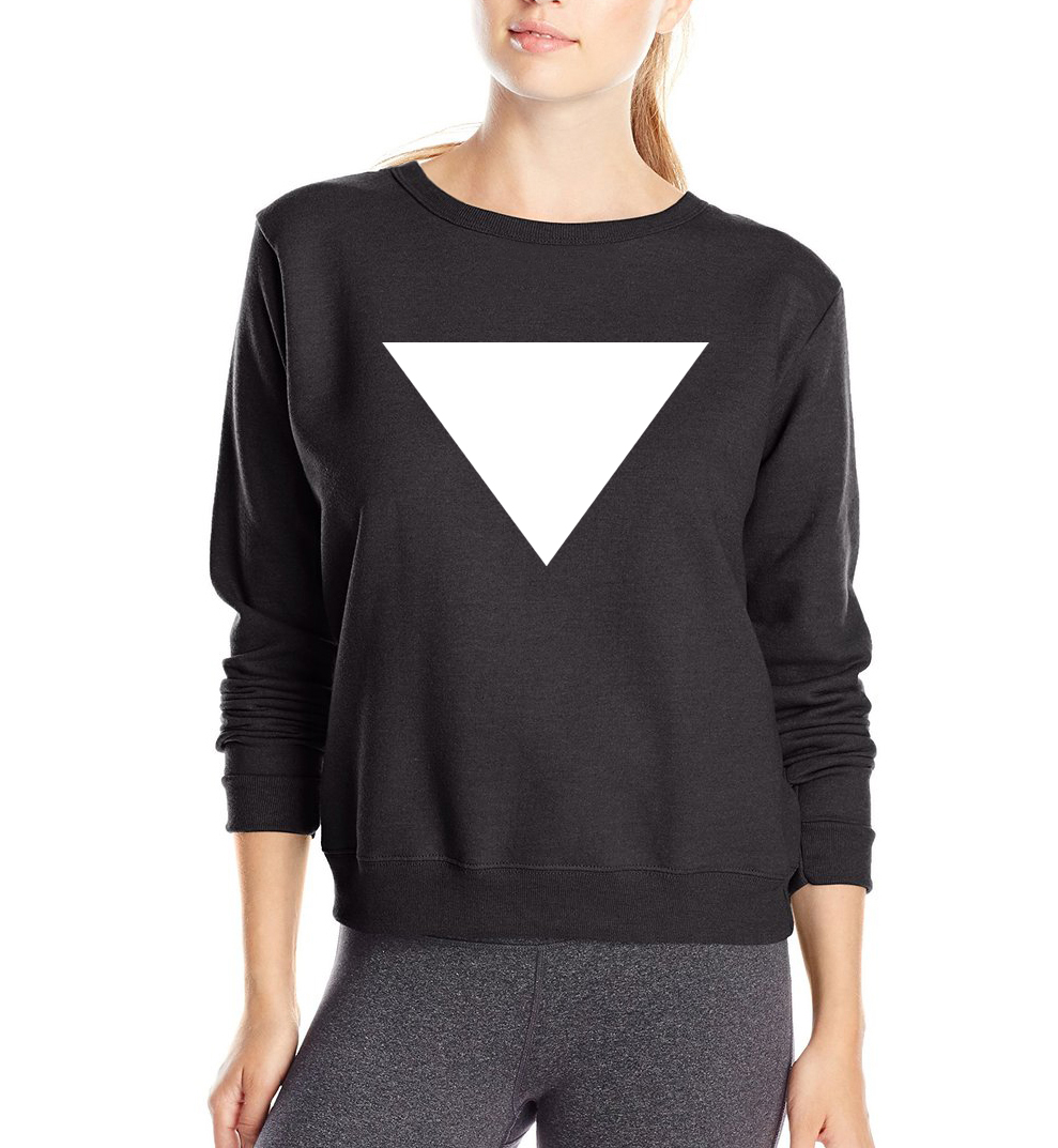 personalized women sweatshirts adult Geometric Triangle Print funny hoodies 2019 spring new style fleece high quality tracksuit