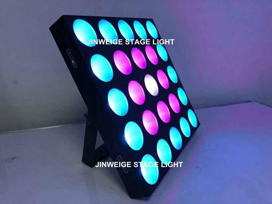 Free Shipping 5x5 Matrix Blinder 25x10w RGBW 4IN1 Stage Beam Light LED Matrix Blinder Wall 5x5 Panel Dmx Stage Light For Dj