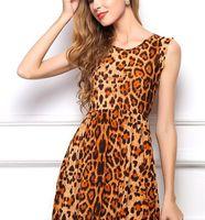 2017 fashion de nieuwe sexy open cultiveren moraal show dunne luipaard graan vest dress is gratis verzending