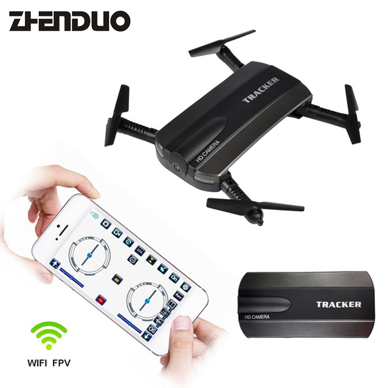 JXD523 Tracker Foldable Mini Rc Drone with Wifi FPV 720P HD Camera Altitude Hold&Headless JXD 523 RC Quadcopter Toy xs809w mini foldable drone rc selfie drone with wifi fpv hd camera headless mode rc quadcopter drone portable model