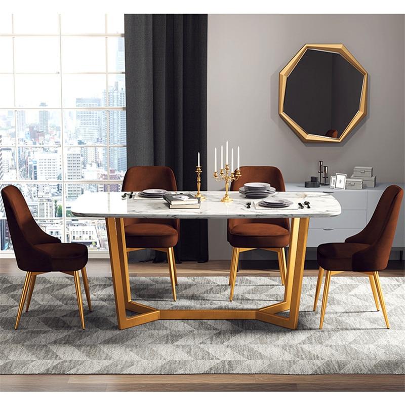 Moderne minimaliste haut rebond Restaurant meubles chaise Restaurant moderne Pu chinois fer chaise bois cuisine à manger chaise reste