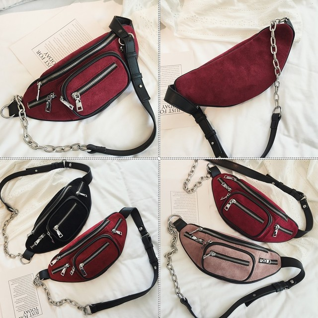 Retro Styled Waist Bag for Women