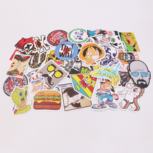 6Pcs/lot Funny Anime Gravity Falls Sticker For Car Laptop Luggage Skateboard Motorcycle Decal Kids Toy Sticker CTZ10