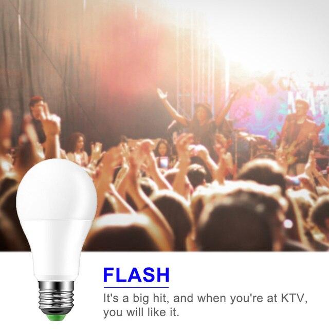 10W 15W E27 LED RGB Bulb Lamp AC85-265V LED Home Decoration Interior Spot Light Home LED Lighting Lampada+IR Remote Control LED Bulbs & Tubes