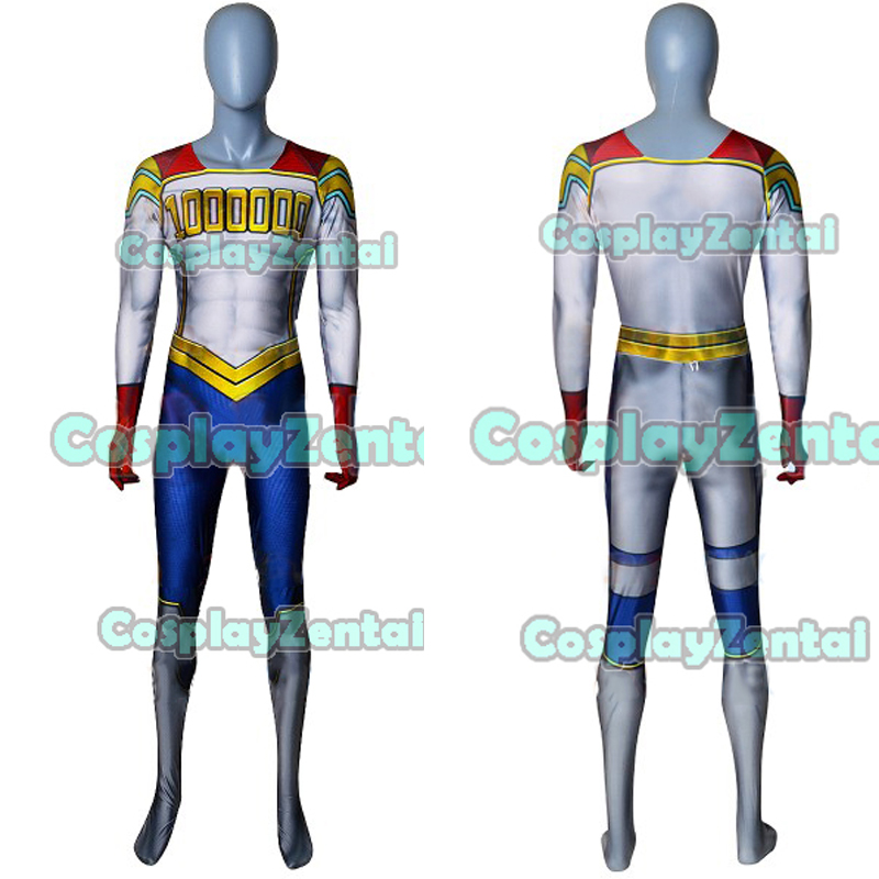 Togata <font><b>Mirio</b></font> <font><b>Cosplay</b></font> Costume Spandex 3D Printing Zentai Bodysuit for Halloween Freeshipping image