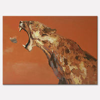Frog Oil Painting On Canvas Wall Pictures Paintings For Living Room Wall Art Canvas Plattle Knife