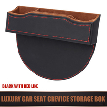 E-FOUR Luxury Car Seat Crevice Storage Box ABS Leather Floss Quality Interior Accessories Stowing Tidying Mesh Organizer