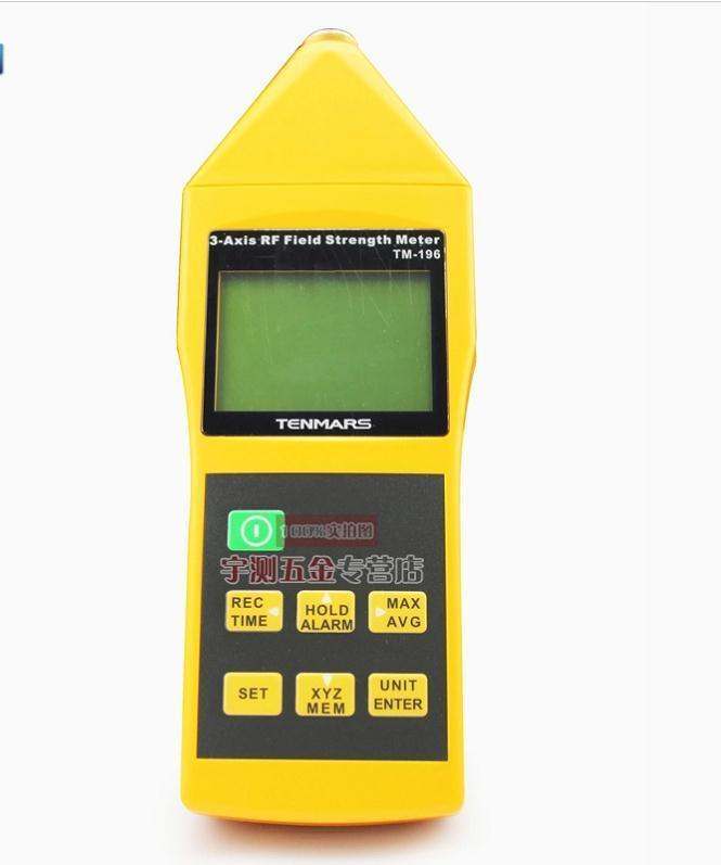 TM-196 10MHz~8GHz 3 Axis Electrosmog RF Field Microwave EMF Tester   electromagnetic radiation intensity meter tenmars tm 192d 3 axis emf electromagnetic magnetic field gauss meter emf 30 2000hz with datalogger