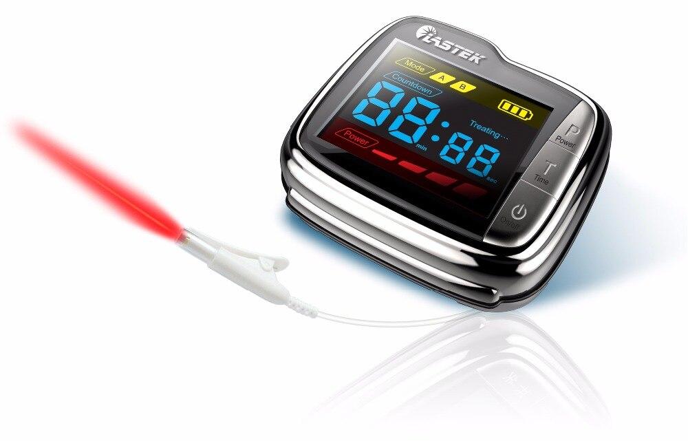 LASTEK Laser Wrist Watch hypertension hyperlipidemia hyperglycemia Diabetes Laser Therapy device hypertension