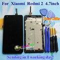 Высокое Качество ЖК-Дисплей + Сборка Экрана Планшета Сенсорный Для Xiaomi Redmi2 Hongmi2 Redmi 2 2А Мобильный Телефон 4.7 дюймов С кадр