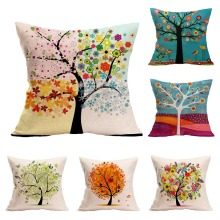 life tree flax pillow case house and home decorate cushion for leaning on cover