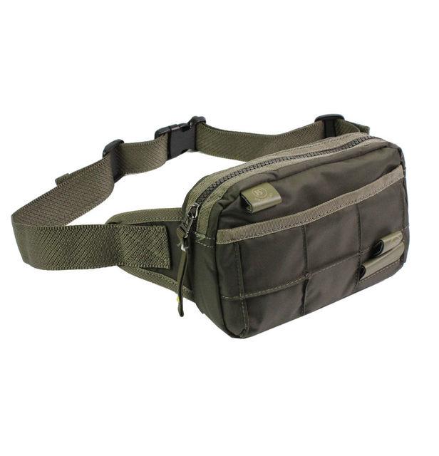 Men Waterproof Nylon Fanny Pack Waist Bag Hip Bum Cross Body Messenger Shoulder Packet Pouch Belt for Travel Military Tactical