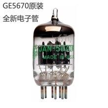 Tubo de antigüedades GE JAN 5670W, reemplazo de 6N3 / 396A / 2C51/5670, 2 uds.