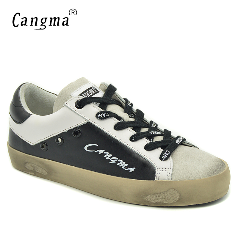 CANGMA Black And White Sneakers Women Shoes Luxury Brand Genuine Leather Suede Female Shoes Adult Casual Breathable FootwearCANGMA Black And White Sneakers Women Shoes Luxury Brand Genuine Leather Suede Female Shoes Adult Casual Breathable Footwear