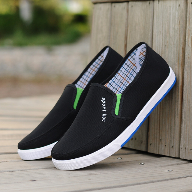 Men's Loafers Canvas Shoes Comfort Driving Shoes Casual Slip on Walking Sneakers