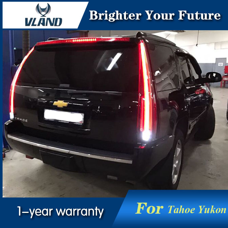 Vland 2pcs Rear Lamp Led Tail Lights For Tahoe Gmc Yukon Chevrolet Chevy Suburban 2007 2017 With Yellow Turn Sign In Car Light Embly From