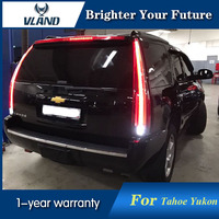 VLAND 2Pcs Rear Lamp LED Tail Lights For Tahoe GMC Yukon Chevrolet Chevy Suburban 2007 2014 Tail Lights With Yellow Turn Sign