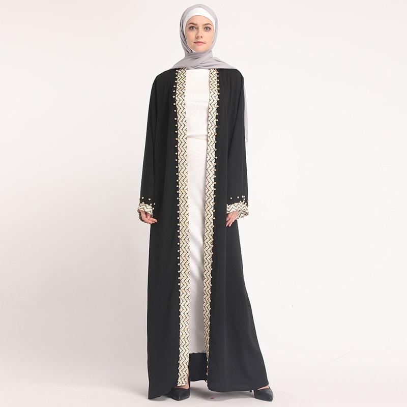 56896fde7213 Kaftan Abaya Turkey Robe Dubai Cardigan Hijab Muslim Dress Abayas For Women  ...