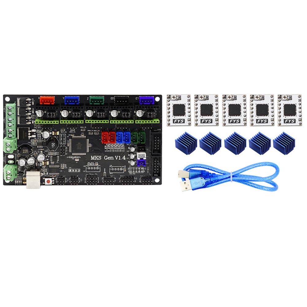 все цены на MKS Gen-L V1.4 Board+S109 Driver+Heat Sinks Compatible with Ramps1.4 3D Printer Controller XXM8