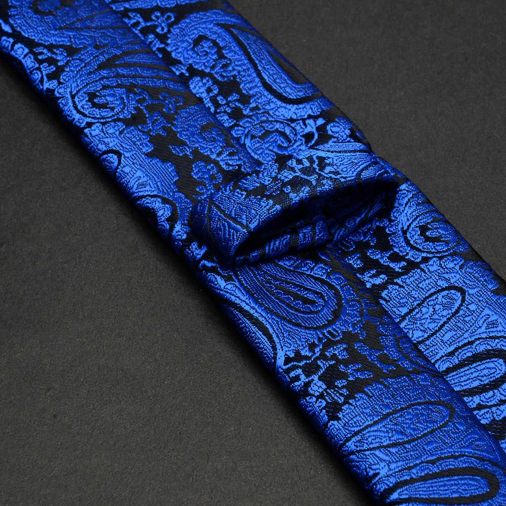 GUSLESON 男性ネクタイ 5 センチメートルネクタイ高級防水ストライプチェック柄 Corbatas Gravata ジャのウェディングドレススリムネクタイ