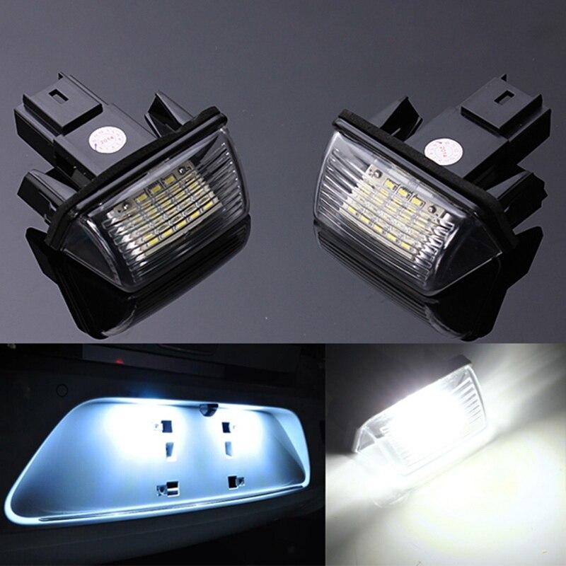 2 шт., 18 светодиодов, белый, 6000 К, номерной знак, лампочки, 12 В, лампа, без ошибок для Пежо 206 207 для CITROEN C3 C4 5 XSARA