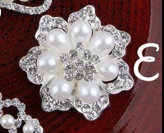 10pcs Flower Vintage style large rhinestone Buttons 8b0141329b4d