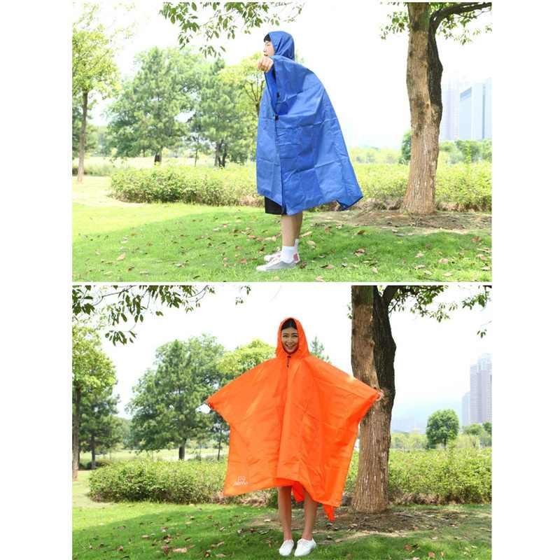 3 en 1 ropa de lluvia alfombrilla impermeable escalada pesca senderismo Poncho humedad impermeable capa solar toldo RL21-0043