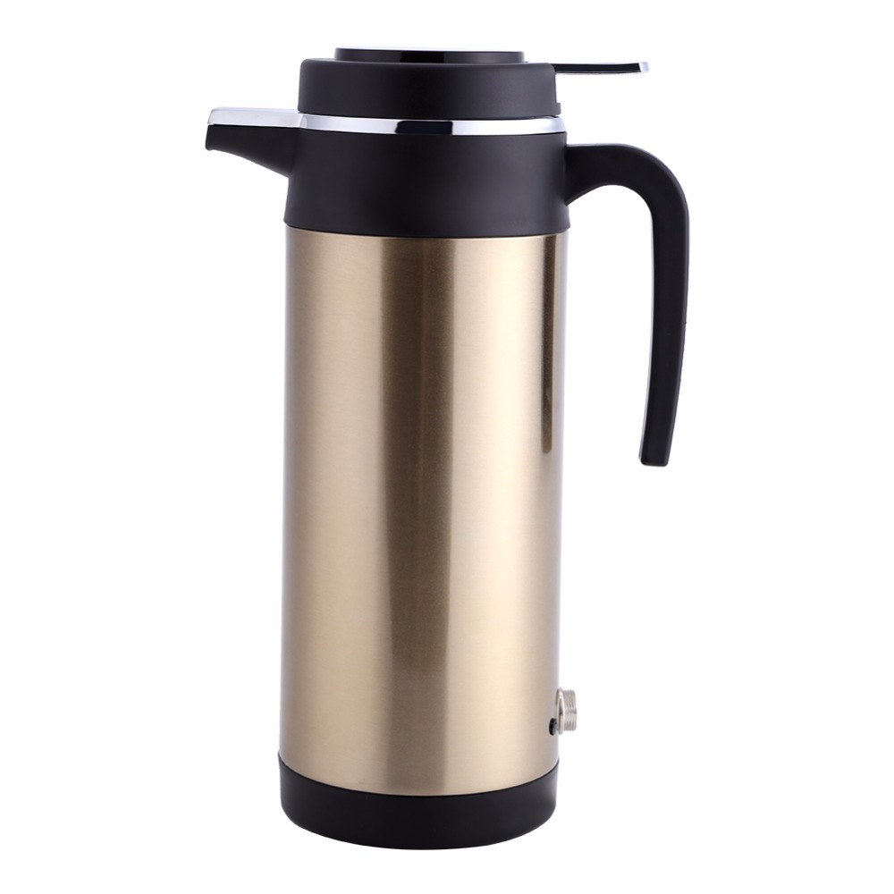 800mL  Auto Car Heating Cup Stainless Steel Car Charger Electric Heating Cup Boiling Water Heater Kettle Travel Use 400ml stainless steel auto stirring mug electric coffee mixing cup drinking cup furniture accessories