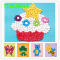 HAPPYXUAN 4pcs 14*16cm DIY Handmade Crumpled Paper Ball Craft Kits Early Learning Education Toys For Kids